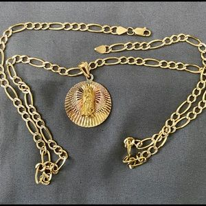 Jewelry - 14k Figaro chain necklace with pedant